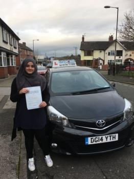 A big congratulations to Afsa Shaban, who passed her driving test today at Cobridge Driving Test Centre, with 7 driver faults.<br /> Well done Afsa - safe driving from all at Craig Polles Instructor Training and Driving School. 🚗😀