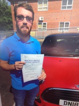 A big congratulations to Alex Webb, who has passed his driving test today at Newcastle Driving Test Centre, with just 4 driver faults.<br />
