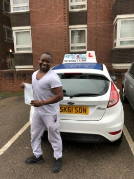 A big congratulations to Alsadig Sabone, who has passed his driving test today at Cobridge Driving Test Centre.<br /> <br /> Well done Alsadig - safe driving from all at Craig Polles Instructor Training and Driving School. 🚗😀