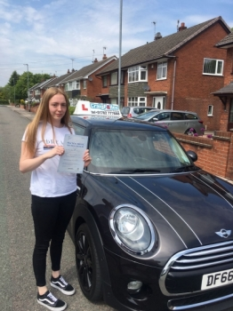 A big congratulations to Amy Dawson, who has passed her driving test today at Newcastle Driving Test Centre, with 4 driver faults.<br />