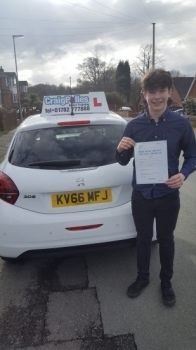 A big congratulations to Andrew Burgess, who has passed his driving test at Cobridge Driving Test Centre, at his First attempt and with just 3 driver faults.<br /> <br /> Well done Andrew - safe driving from all at Craig Polles Instructor Training and Driving School. 😀🚗<br /> <br /> Instructor Dave Wilshaw