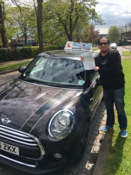 A big congratulations to Antonio Marco Aldada, who has passed his driving test today at Newcastle Driving Test Centre.<br />