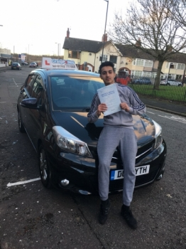A big congratulations to Asam Iqbal, who has passed his driving test at Cobridge Driving Test Centre, at his First attempt and with just 2 driver faults.<br /> Well done Asam - safe driving from all at Craig Polles Instructor Training and Driving School. 🚗😀