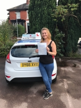 A big congratulations to Becci Shaw. Becci passed her driving test today, at Newcastle Driving Test Centre with just 1 driver fault.<br /> <br /> Well done Becci - safe driving from all at Craig Polles instructor training and driving school. 🚗😀