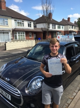 A big congratulations to Benjamin Joseph Bevington, who has passed his driving test today at Newcastle Driving Test Centre.<br />