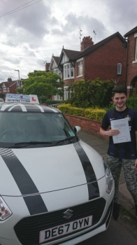A big congratulations to Billy McConnell, who has passed his driving test at Crewe Driving Test Centre.<br /> Well done Billy - safe driving from all at Craig Polles Instructor Training and Driving School. :)<br /> Instructor-John Breeze