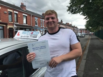 A big congratulations to Cameron, who has passed his driving test toady at Crewe Driving Test Centre, with just 4 driver faults.<br />