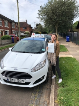 A big congratulations to Chloe Ball, who has passed her driving test at Newcastle Driving Test Centre with 4 driver faults.<br />