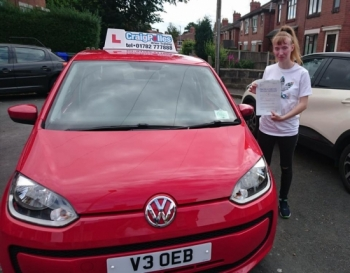 A big congratulations to Chloe Matthews, who has passed her driving test today at Newcastle Driving Test Centre.<br />