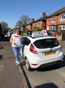 A big congratulations to Chloe Preston, who has passed her driving test today at Newcastle Driving Test Centre.<br />