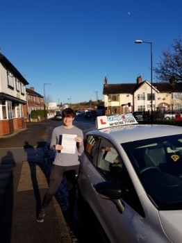 A big congratulations to Connor Riley, who passed his driving test today at Cobridge Driving Test Centre, with just 2 driver faults.<br /> Well done Connor - safe driving from all at Craig Polles Instructor Training and Driving School.