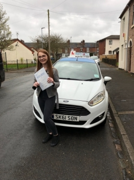 A big congratulations to Courtney Evans, who has passed her driving test today at Newcastle Driving Test Centre.<br />
