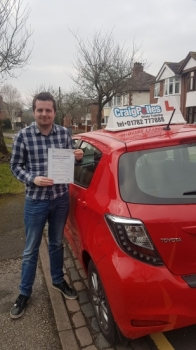 A big congratulations to Daniel Ratcliffe, who has passed his driving test today at Newcastle Driving Test Centre, at his First attempt and with just 1 driver fault.<br /> Well done Daniel - safe driving from all at Craig Polles Instructor Training and Driving School. 🚗😀