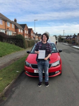 A big congratulations to Daniel Whitehouse, who has passed his driving test today at Cobridge Driving Test Centre, at his First attempt and with just 1 driver fault.<br />