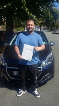 A big congratulations to Dave Whitehurst, who has passed his driving test at Newcastle Driving Test Centre.<br />