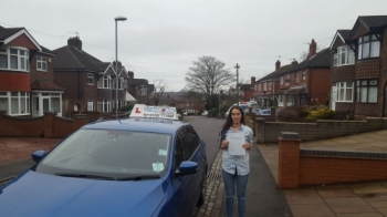 A big congratulations to Demi Plant, who has passed her driving test today at Cobridge Driving Test Centre, with just 6 driver faults.<br />