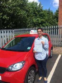 A big congratulations to Dr Asma Mughal, who has passed her driving test today at Newcastle Driving Test Centre.<br /> First attempt and with just 4 driver faults.<br /> Well done Dr Asma - safe driving from all at Craig Polles Instructor Training and Driving School. :)<br /> Instructor-Ashlee Kurian