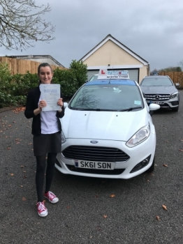 A big congratulations to Ellie Cunningham, who passed her driving test today at Newcastle Driving Test Centre, with just 3 driver faults.<br /> Well done Ellie - safe driving from all at Craig Polles Instructor Training and Driving School. 🚗