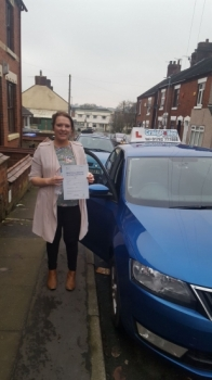 A big congratulations to Emily Mclatchie, who has passed her driving test at Cobridge Driving Test Centre, at her First attempt and with just 4 driver faults.<br />