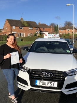 A big congratulations to Georgia Cadman, who has passed her driving test today at Cobridge Driving Test Centre, with just 1 driver fault.<br /> Well done Georgia - safe driving from all at Craig Polles Instructor Training and Driving School. 🚗😀