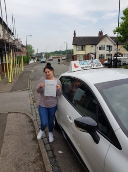 A big congratulations to Gina, who has passed her driving test at Cobridge Driving Test Centre with just 5 driver faults.<br /> Well done Gina - safe driving from all at Craig Polles Instructor Training and Driving School. :)<br /> Instructor-Greg Tatler