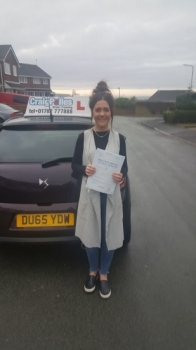 A big congratulations to Hannah Hepworth, who passed her driving test today at Cobridge Driving Test Centre, with just 5 driver faults.<br /> Well done Hannah - safe driving from all at Craig Polles Instructor Training and Driving School. 🚗😀