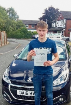 A big congratulations to Harvey Wood, who has passed his driving test at Newcastle Driving Test Centre with just 6 driver faults.<br />