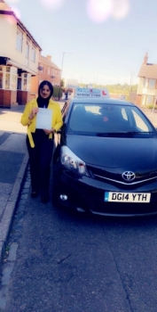 A big congratulations to Henna Parveen, who has passed her driving test toady at Cobridge Driving Test Centre,<br /> with just 2 driver faults.<br /> Well done Henna - safe driving from all at Craig Polles Instructor Training and Driving School. :)<br /> Instructor-Saiqa Nawaz