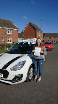 A big congratulations to Isabella Denny, who has passed her driving test today at Crewe Driving Test Centre, with just 2 driver faults.<br />