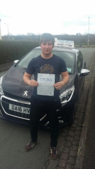 A big congratulations to Jack Whitley, who has passed his driving test at Newcastle Driving Test Centre, at his First attempt and with just 3 driver faults.<br />