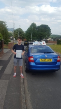 A big congratulations to James Brennan, who has passed his driving test toady at Cobridge Driving Test Centre,<br />