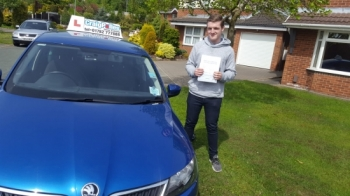 A big congratulations to James Pleavin, who has passed his driving test today at Cobridge Driving Test Centre.<br /> First attempt and with just 2 driver faults.<br /> Well done James - safe driving from all at Craig Polles Instructor Training and Driving School. 😀🚗<br /> Instructor-Jamie Lees