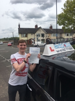 A big congratulations to James Read, who has passed his driving test today at Cobridge Driving Test Centre, with 3 driver faults.<br />