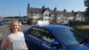 A big congratulations to Jaqui Natty, who has passed her driving test today at Cobridge Driving Test Centre, with just 6 driver faults.<br /> Well done Jaqui- safe driving from all at Craig Polles Instructor Training and Driving School. 🙂<br /> Instructor-Jamie Lees
