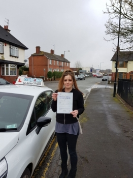A big congratulations to Jemma Hanson, who has passed her driving test today at Cobridge Driving Test Centre, at her First attempt and with just 3 driver faults.<br /> <br /> Well done Jemma - safe driving from all at Craig Polles Instructor Training and Driving School. 🚗😀