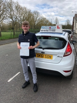 A big congratulations to Jordan Day, who has passed his driving test today at Cobridge Driving Test Centre, with just 2 driver faults.<br /> Well done Jordan - safe driving from all at Craig Polles Instructor Training and Driving School. 😀🚗<br /> Instructor-Sarah Skelson