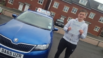 A big congratulations to Jordon Hackney, who has passed his driving test today at Cobridge Driving Test Centre, at his First attempt and with just 6 driver faults.<br /> Well done Jordon - safe driving from all at Craig Polles Instructor Training and Driving School. 🚗😀