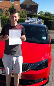 A big congratulations to Josh Griffiths, who has passed his driving test toady at Cobridge Driving Test Centre.<br /> First attempt and with just 7 driver faults.<br /> Well done Josh - safe driving from all at Craig Polles Instructor Training and Driving School. :)<br /> Instructor-Stephen Cope