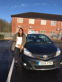 A big congratulations to Kainat Basheer, who has passed her driving test today at Newcastle Driving Test Centre, at her First attempt and with just 1 driver fault.<br />