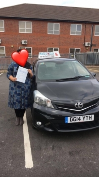 A big congratulations to the lady with the heart shaped face, who has passed her driving test today at Newcastle Driving Test Centre, at her First attempt.<br /> Well done to you - safe driving from all at Craig Polles Instructor Training and Driving School. :)<br /> Instructor-Saiqa Nawaz