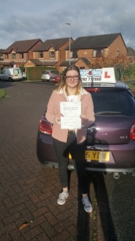 A big congratulations to Laura Jones, who has passed her driving test today at Cobridge Driving Test Centre. First time and with just 1 driver fault.<br /> Well done Laura - safe driving from all at Craig Polles Instructor Training and Driving School. 🚗😀