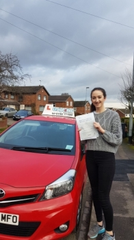 A big congratulations to Lauren Scott, who has passed her driving test today at Newcastle Driving Test Centre, at her First attempt and with just 2 driver faults.<br />