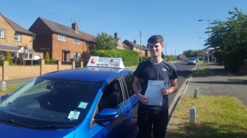 A big congratulations to Lewis Carter, who has passed his driving test at Cobridge Driving Test Centre.<br /> Well done Lewis - safe driving from all at Craig Polles Instructor Training and Driving School. :)<br /> Instructor-Jamie Lees