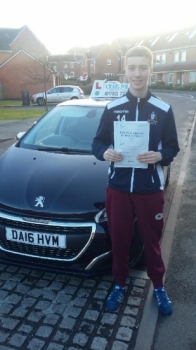 A big congratulations to Liam Cope, who has passed his driving test at Newcastle Driving Test Centre, with 7 driver faults.<br /> Well done Liam - safe driving from all at Craig Polles Instructor Training and Driving School. 🚗😀