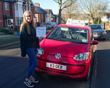 A big congratulations to Libby Dean, who has passed her driving test today at Newcastle Driving Test Centre, at her First attempt and with just 4 driver faults.<br /> Well done Libby - safe driving from all at Craig Polles Instructor Training and Driving School. 🚗😀