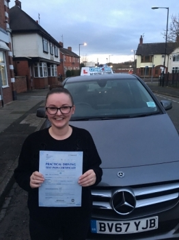 A big congratulations to Lisa Barnett, who passed her driving test today at Cobridge Driving Test Centre, with 6 driver faults.<br />