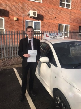 A big congratulations to Matt Johnson, who has passed his driving test today at Newcastle Driving Test Centre, at his First attempt and with just 2 driver faults.<br />