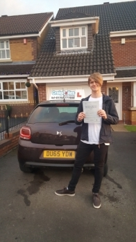 A big congratulations to Max Clark, who has passed his driving test today at Cobridge Driving Test Centre, at his First attempt and with just 7 driver faults.<br /> Well done Max - safe driving from all at Craig Polles Instructor Training and Driving School.🚗😀