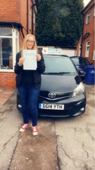 A big congratulations to Melissa Thomas, who has passed her driving test today at Newcastle Driving Test Centre, with 7 driver faults.<br />