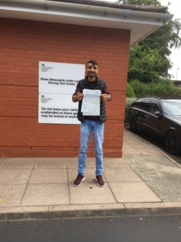 A big congratulations to Mujahid Chaudry, who has passed his driving test today at Newcastle Driving Test Centre.<br />